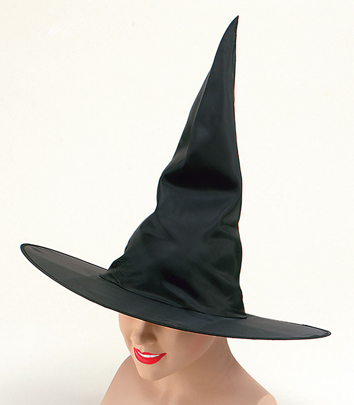 Witch Hat. Black Nylon Plain