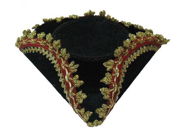 Tricorn Mini Hat + Gold Edge