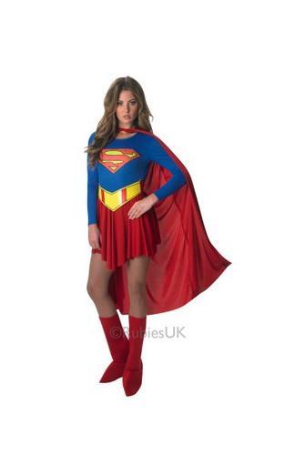 Supergirl Fancy Dress Costume Thumbnail 1