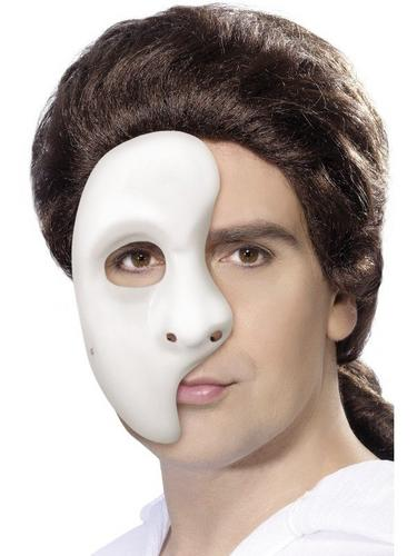 Half Face Phantom Fancy Dress Mask Thumbnail 1