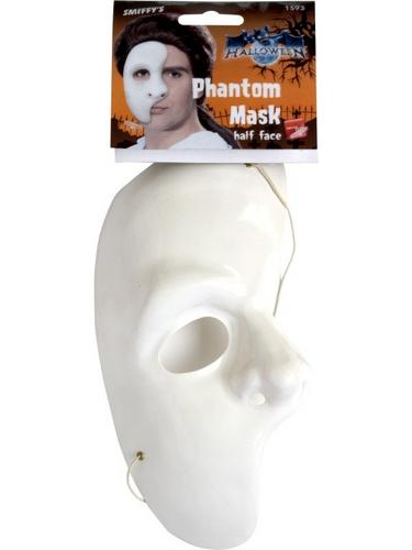 Half Face Phantom Fancy Dress Mask Thumbnail 2