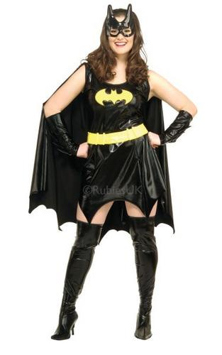Plus Size Batgirl Fancy Dress Costume Thumbnail 1
