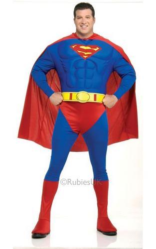 Plus Size MC Superman Fancy Dress Costume Thumbnail 1