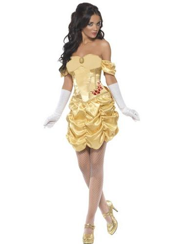Golden Princess Fancy Dress Costume Thumbnail 2