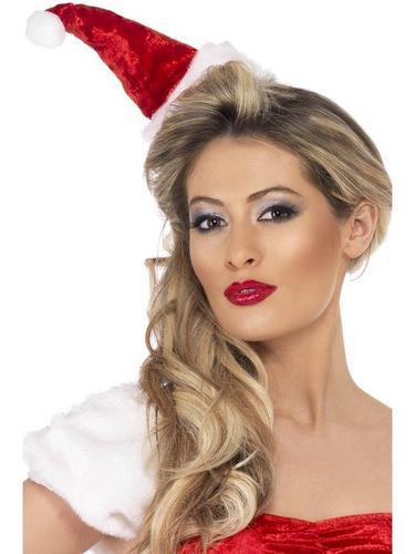 Mini Santa Fancy Dress Hat on Headband Thumbnail 1