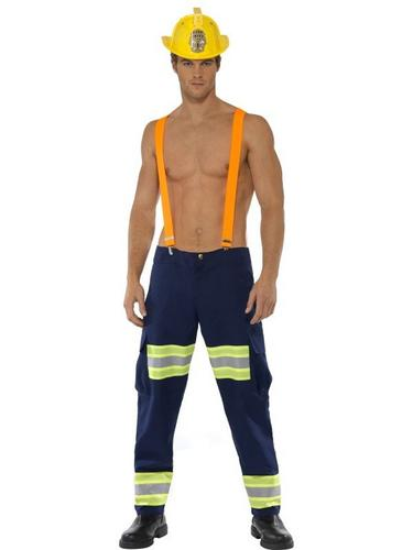 Male Firefighter Fancy Dress Costume Thumbnail 1