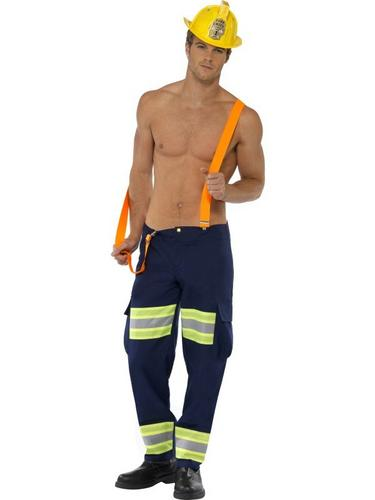 Male Firefighter Fancy Dress Costume Thumbnail 2