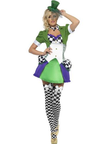 Sexy Miss Fancy Dress Hatter Fancy Dress Costume Thumbnail 2