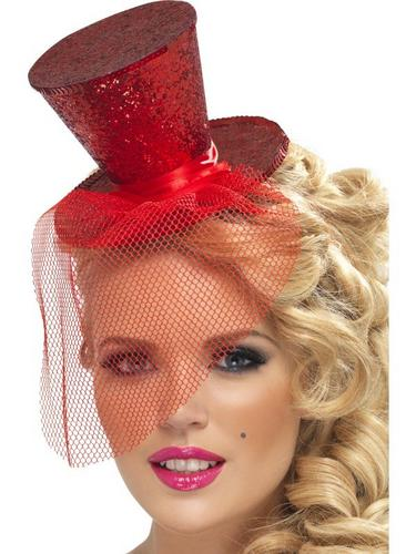 Red Mini Top Fancy Dress Hat Thumbnail 1