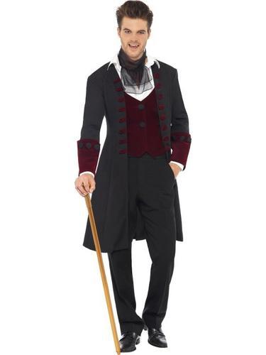 Male Fever Gothic Vamp Fancy Dress Costume Thumbnail 1