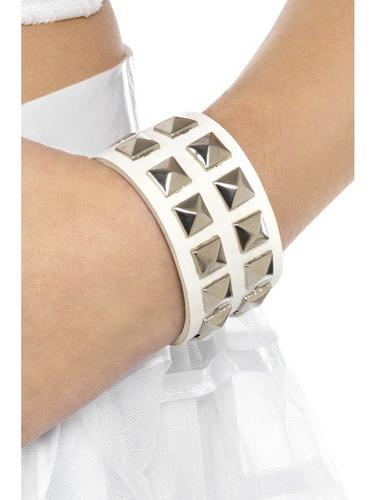 80s Studded Wristband White Thumbnail 1