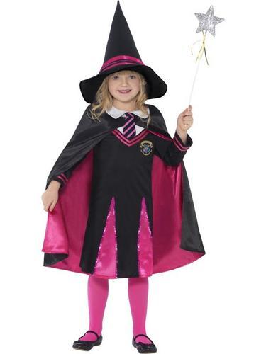 Witch School Girl Fancy Dress Costume Thumbnail 1