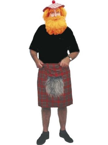Tartan Kilt Fancy Dress Costume Thumbnail 1