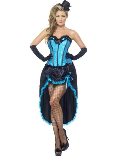 Burlesque Dancer Costume Blue Thumbnail 1