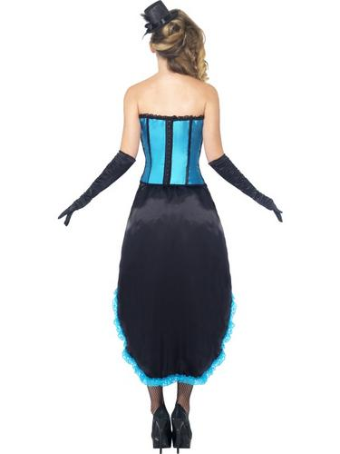Burlesque Dancer Costume Blue Thumbnail 2