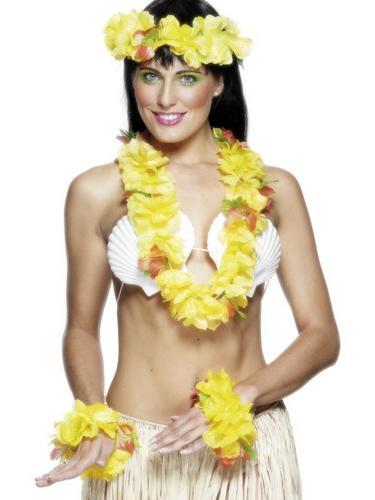 Hawaiian Garland Set   Yellow Thumbnail 1