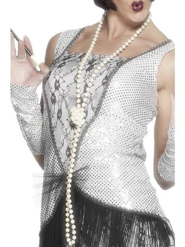 1920's Flapper Pearl Necklace Thumbnail 1
