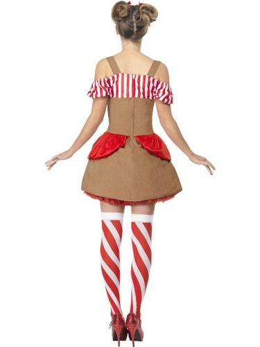 Gingerbread Woman Fancy Dress Costume Thumbnail 2