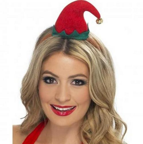 Mini Elf Fancy Dress Hat on Headband Thumbnail 1