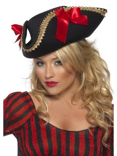 Pirate Fancy Dress Hat With Bow Thumbnail 1
