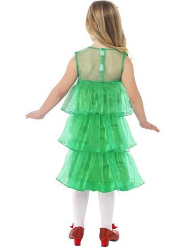 Girls Little Christmas Tree Tutu Fancy Dress Costume Thumbnail 2