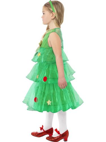 Girls Little Christmas Tree Tutu Fancy Dress Costume Thumbnail 3