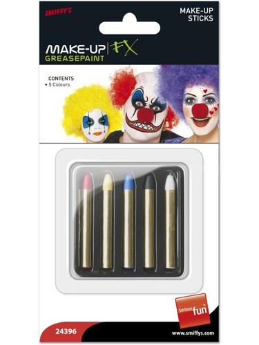 Make Up Sticks in 5 Colours, Red, Yellow, Blue, Black and White Thumbnail 2