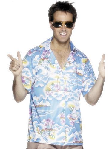 Hawaiian Shirt   Blue Thumbnail 1