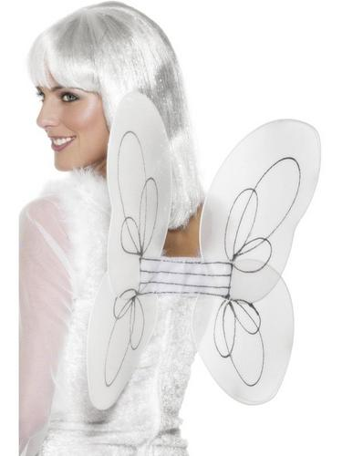 White Net and Silver Glitter Wings Thumbnail 1