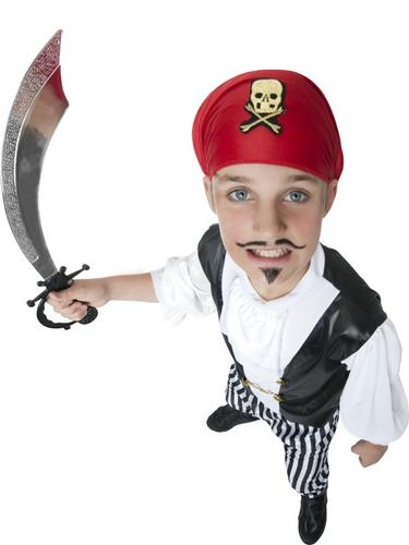 Boys Pirate Fancy Dress Costume Thumbnail 3