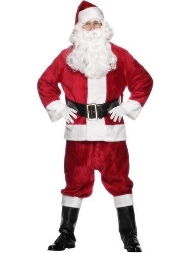 Deluxe Santa Suit Fancy Dress Costume Thumbnail 1