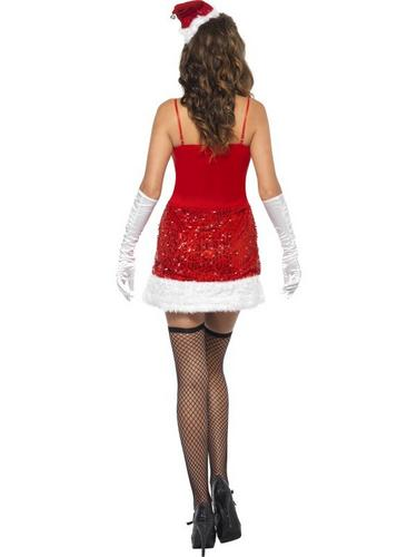 Sequin Santa Sizzle Fancy Dress Costume Thumbnail 3