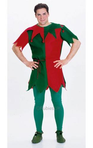 Unisex Economy Elf Fancy Dress Costume Thumbnail 1