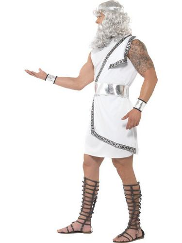 Zeus Fancy Dress Costume White Thumbnail 3