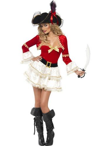 Boutique Plentiful Pirate Fancy Dress Costume Thumbnail 2