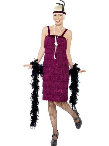 Jazz Flapper Costume, Red Thumbnail 1