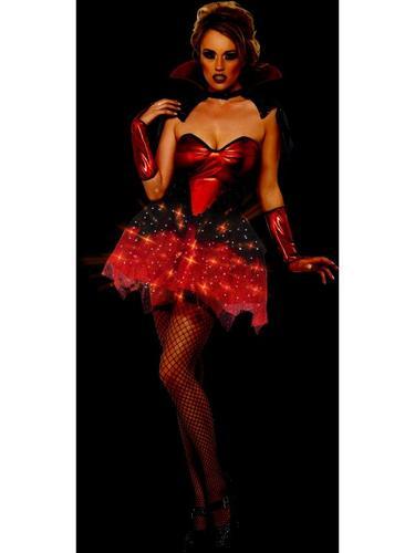 Fever All That Glitters Light Up Vamp Gloss Costume Thumbnail 3