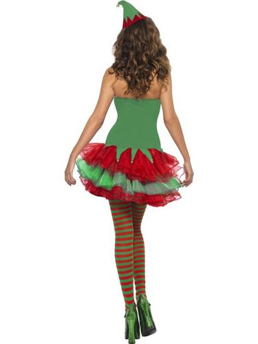 Ladies Elf Fancy Dress Costume Thumbnail 3
