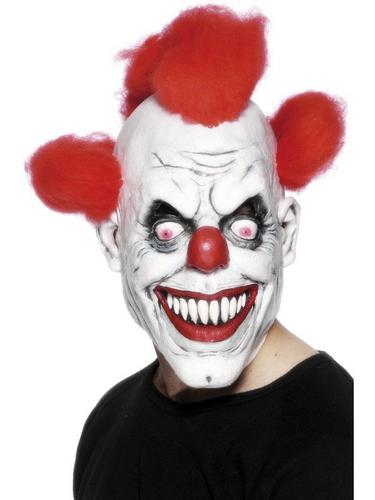 Evil Clown Fancy Dress Mask Thumbnail 1
