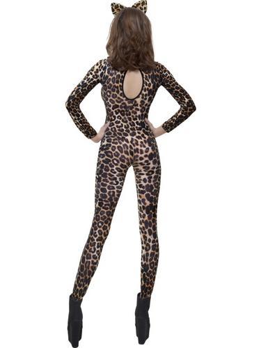 Cheetah Print Brown Bodysuit Fancy Dress Costume Thumbnail 2
