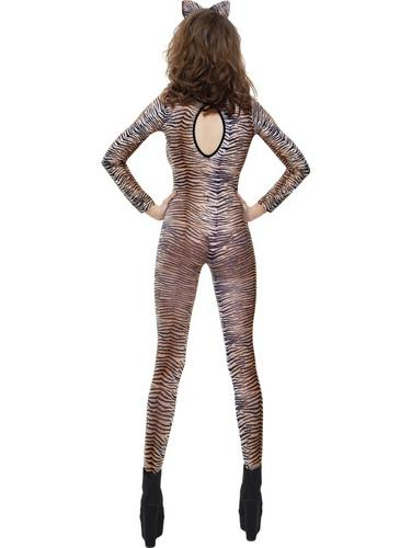 Tiger Print Bodysuit Fancy Dress Costume Thumbnail 2