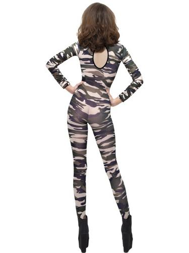 Camoflage Bodysuit Fancy Dress Costume Thumbnail 2
