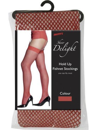 Fishnet Stockings Red Thumbnail 2