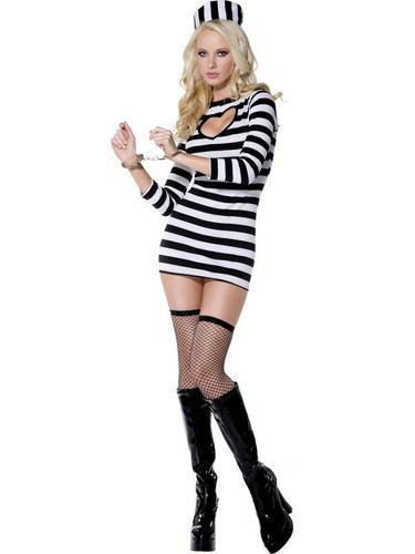 Sexy Convict Fancy Dress Costume Thumbnail 1