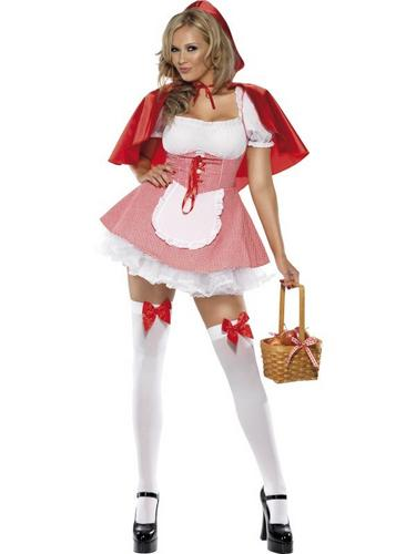 Red Riding Hood Fancy Dress Costume Thumbnail 2