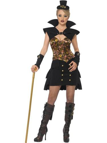Steam Punk Victorian Vampiress Fancy Dress Costume Thumbnail 2