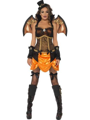 Steampunk Fancy Dress Costume Victorian Bat Thumbnail 1