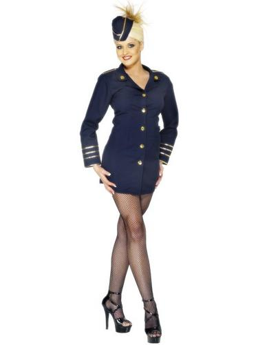 Flight Attendant Fancy Dress Costume Thumbnail 1