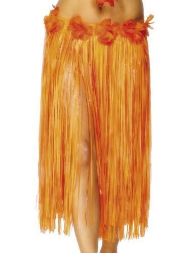 Hawaiian Skirt Red and Orange Thumbnail 1