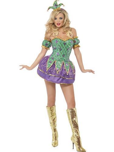 Harlequin Shine Fancy Dress Costume Thumbnail 1
